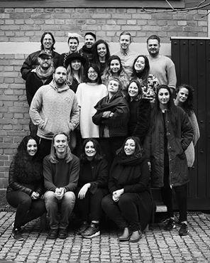 Klassfoto på teamet i utbildningen Höj rösten 2016.